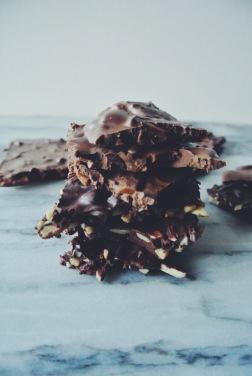 Daim and Almond Chocolate Slabs