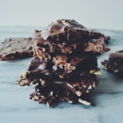 Daim and Almond Chocolate Slabs