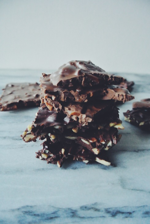 Almond Chocolate Slabs and Daim Chocolate Slabs